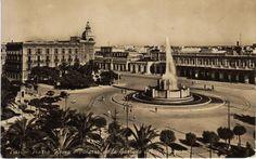 Antica foto di piazza Roma, oggi piazza Moro, a Bari.