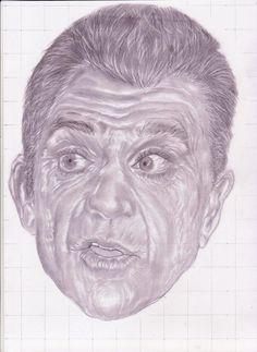 sketsa wajah dengan ekspresi unik mell gibson