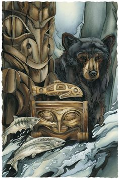 Bergsma Gallery Press::Paintings::Art With Symbols::Native::Gifts Of The Salmon People - Prints