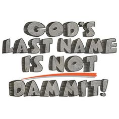 What is taking God's name in vain?