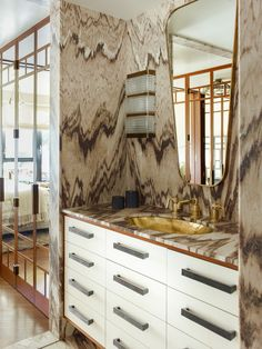 KELLY WEARSTLER | INTERIORS. Guest Bathroom. Blodgett Residence, New York