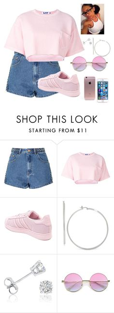 """soft pink"" by dasia-babi ❤ liked on Polyvore featuring Glamorous, Steve J & Yoni P, adidas and Amanda Rose Collection"