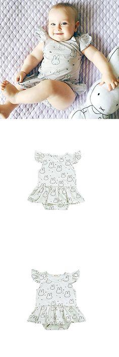 Weixinbuy Toddler Baby Girls Cute Rabbit Romper Summer Bodysuit Jumpsuit Clothes