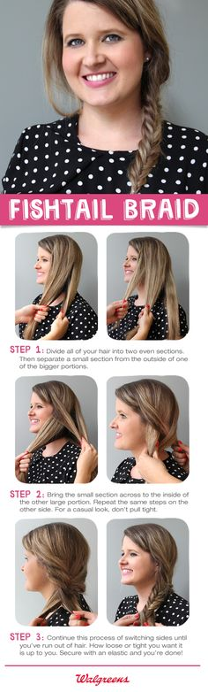 How to do a fishtail braid in 3 steps.