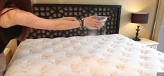 HoldingBowlOverMattress | You Need to Clean Your Mattress. Here's the Easy Way to Do It.