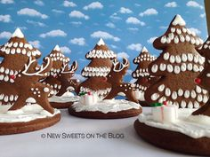 3D Christmas scenery cookies by Ada Plainaki & New Sweets on the Blog