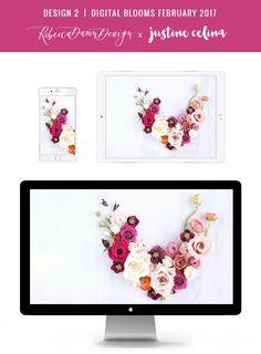 DIGITAL BLOOMS FEBRUARY 2017 | Free Desktop Wallpapers + Choosing to Spread Love | Design 2 // JustineCelina.com x Rebecca Dawn Design