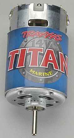Traxxas 1585 Titan Marine 550 Motor, Villain EX by Traxxas. Save 22 Off!. $15.66. From the Manufacturer                This is the 1585 Titan Marine 550 Motor Villain EX from Traxxas. Traxxas has grown to become the number-1 selling name in RTR nitro and electric models for the last 4 years running. No one has done more than Traxxas to advance the RTR category with innovative thinking and fun designs that make it easy for anyone to get started in the great R/C hobby. Traxxas, truel...