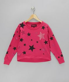 Take a look at this Fuchsia Sparkle Star Sweatshirt  - Girls by Dollhouse on #zulily today!