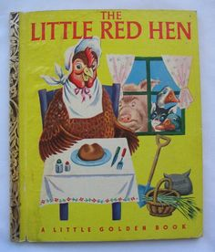 Little Red Hen, Vintage Little Golden Book, illustrated by Rudolf, 'M' Edition. by TheVintageRead