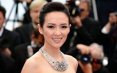 Lataa kuva Ziyi Zhang, 4k, kiinan näyttelijä, muotokuva, kauneus, ruskeaverikkö