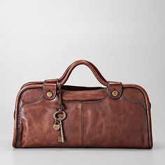 Vintage Piped Satchel from Fossil. We just can't stop with the Fossil stuff. Drool, drool.