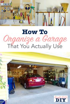 These DIY garage organisation ideas are perfect for real life. Use these cheap storage solutions for all your tools and toys. And still have room for your car!