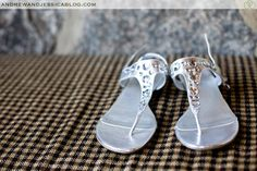Brides shoes at mountainside chapel