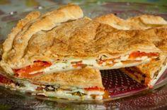 Καλοκαιρινή ντοματόπιτα με τυρί φέτα! Lasagna, Feta, Food To Make, Sandwiches, Cooking, Ethnic Recipes, Beauty, Kitchen, Paninis