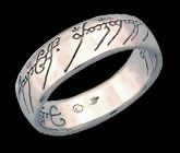 One Ring in Platinum - Lord of the Rings Jewelry ($2652.85)