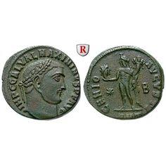Römische Kaiserzeit, Maximinus II., Follis 312, ss-vz: Maximinus II. 309-313. AE-Follis 312 Antiochia. Kopf r. mit Lorbeerkranz IMP… #coins