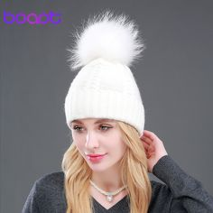 BOAPT Winter Genuine Natural Real Raccoon Fur Caps Female Beanies Wool Rabbit Knitted Hats Pompon Headgear Skullies For Girls-in Skullies & Beanies from Women's Clothing & Accessories on Aliexpress.com   Alibaba Group