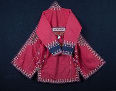 Antique Turkmen silk Chyrpy COAT COSTUME by SOrugsandtextiles
