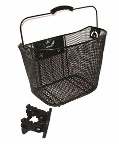 Bicycle Metal Mesh Basket MTB Mountain Bike Basket Quick Release Handle LA Radsport Fahrradzubehör