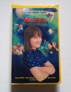 Matilda (VHS, Clam Shell Case Closed Captioned) for sale online Mara Wilson, Close Caption, Danny Devito, Case Closed, Roald Dahl, Matilda, Tape, Ebay, Band