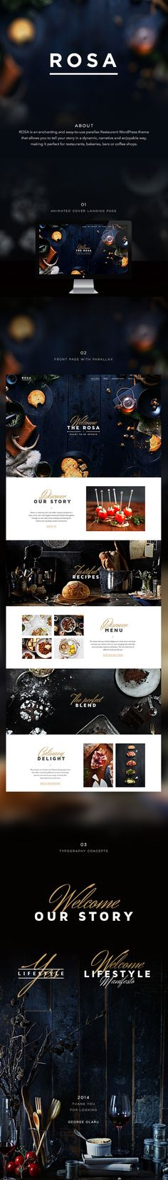 A smooth parallax restaurant website designed by me and developed with the PixelGrade Team. Restaurant Website Design, Behance