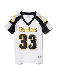 Pittsburgh Steelers Bling V-neck Jersey - PINK - Victoria's Secret