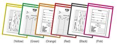 """Repair Order/Work Ticket Holders - Clear with Neon Edges.  Great way to organize your work orders. Organize by department, team or any way you choose.  • 9"""" x 12"""" (pocket), 9-15/16"""" x 13-7/16"""" (overall), (5/16"""" grommet) • Clear rigid vinyl • Top load • Packaged 5 per pack"""