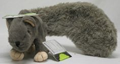 Huggle Hound Feller Squirrel Gray Dog Toy