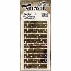 Tim Holtz Layered Stencil - Bricked - Click to enlarge