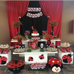 is a modern party supplier brand located on sunshine coast England, Eastbourne - the city with the most sunshine hours in UK. Ladybug Smash Cakes, Cake Smash, Baby 1st Birthday, Birthday Ideas, Birthday Cake, Ladybug Party, Themes Photo, Cake Decorating, Wedding Decorations