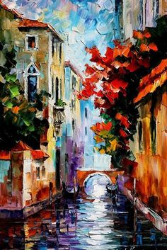 MORNING IN VENICE - LEONID AFREMOV