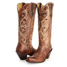 Corral Women's Brown Glitter Square Toe Cowgirl Boots A3120 ...