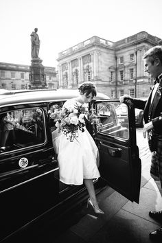 A child friendly wedding in Edinburgh with a bride wearing a 1950's inspired dress by Flossy and Dossy.  Photography by Caro Weiss.