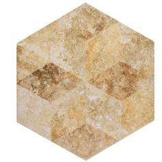 Merola Tile Stone Hex Cream Decor 8-5/8 in. x 9-7/8 in. Porcelain Floor and Wall Tile (11.19 sq. ft. / case)-FCD10SCX - The Home Depot