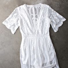 as you wish embroidered lace maxi dress (women) - white - shophearts - 1
