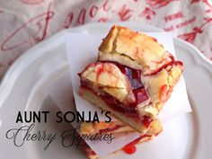 Cherry squares... seems a rather easy recipe with straight-forward ingredients, but no less appetizing.