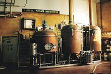 Boilers at Sam Adams brewery