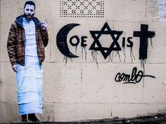 About religion tolerance by the graffiti artist  combo