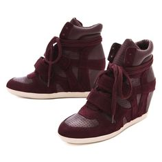 wedge sneakers. Cool concept for short girls who love sneakers!