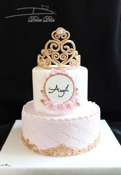 - lindas tortas - Baby Tips Beautiful Birthday Cakes, Baby Birthday Cakes, Beautiful Cakes, Baby Shower Princess, Princess Birthday, Bolo Minion, Quinceanera Cakes, Bolo Cake, Girl Cakes