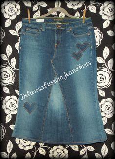 Custom Heart Appliqué's for your jean skirt