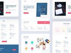 Blog Landing Page by sadbin walid Landing Page Design, Cool Designs, Web Design, Blog, Design Web, Blogging, Website Designs, Site Design