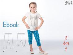 Schnittmuster Leggins / Hose Bibi in 2 Varianten - ebook mit Foto-Nähanleitung. Für Anfängerinnen geeignet! PDF Download, Schnitt für Kinder von pattern4kids auf Etsy