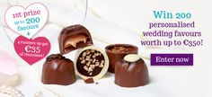Win Delicious Lily O'Brien's Personalised Wedding Favours worth up to for your special day! Personalized Wedding Favors, Wedding Favours, Competition Time, Special Day, Lily, Seasons, Chocolate, Desserts, Food