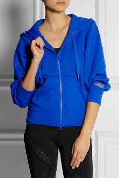 Adidas by Stella McCartney | Essentials cotton-blend hooded top.