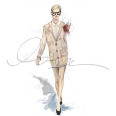 NYFW… Some Favorites The Sketch Book ❤ liked on Polyvore featuring sketches, disegni, fashion illustration, drawings and illustrations