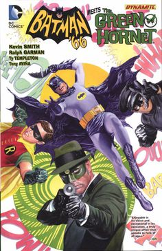 BATMAN '66 Meets The GREEN HORNET (W) Kevin Smith, Ralph Garman (A) Ty Templeton, Alex Ross Superstar filmmaker Kevin Smith and actor/comedian Ralph Garman reunite Batman, The Green Hornet, Robin and Kato! But what could force these rivals to join forces? How about the deadly team of General Gumm and The Joker! Don't miss this hardcover collecting the 6-issue miniseries. Publisher: DC Writer: Smith, Kevin Artist: Templeton, Ty Page Count: 144 Product Code: NOV140308 ISBN: 9781401252281
