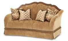 Home / Villa Valencia Wood Trim Tufted Loveseat