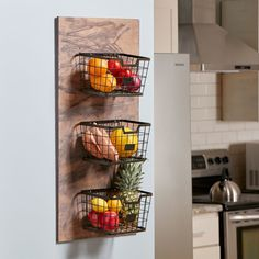 This is a fantastic way to gain some more counter space. Plus, it's perfect for showing off all of your produce!
